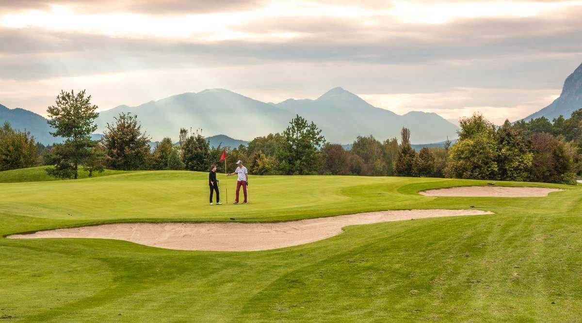 Golfplatz in Kärnten - Aktivitäten im Sommerurlaub in Region Villach - Ossiacher See bei Gerlitzen