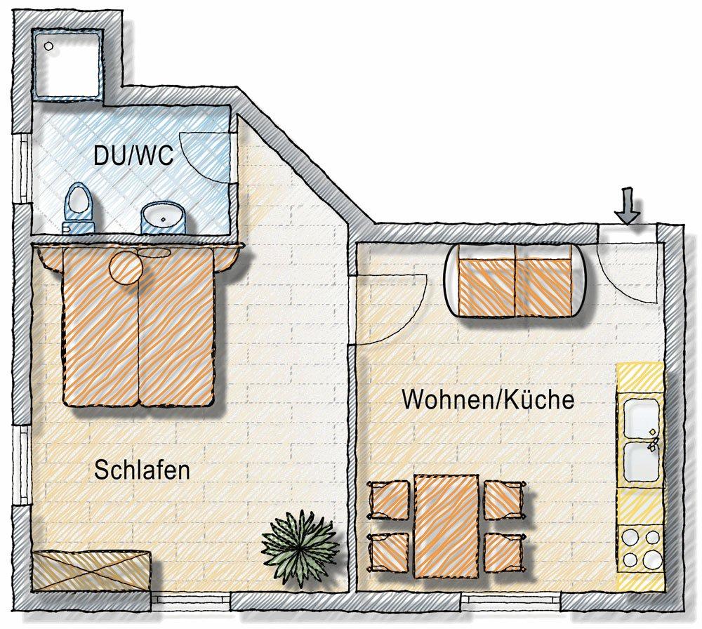 Ferienwohnung in Kärnten Grundriss Apartment für 7 Personen