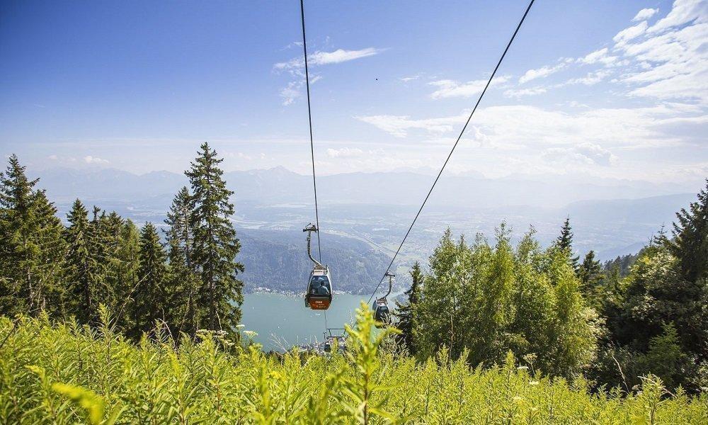 Kanzelbahn Gerlitzen Alpe mit Blick auf Ossiacher See - Impressionen Umgebung Pension Pilsachhof