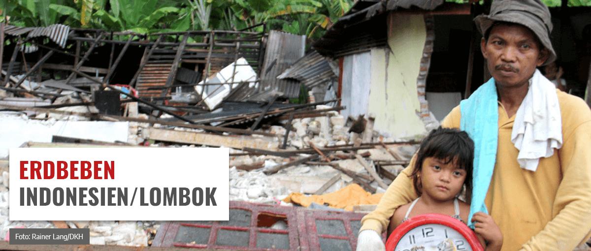 Spende für die Erdbebenopfer in Indonesien