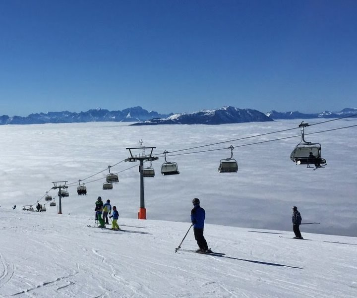 Skifahren auf Gerlitzen in Kärnten bei Winterurlaub in Hotel-Pension Pilsachhof Nähe Skipiste