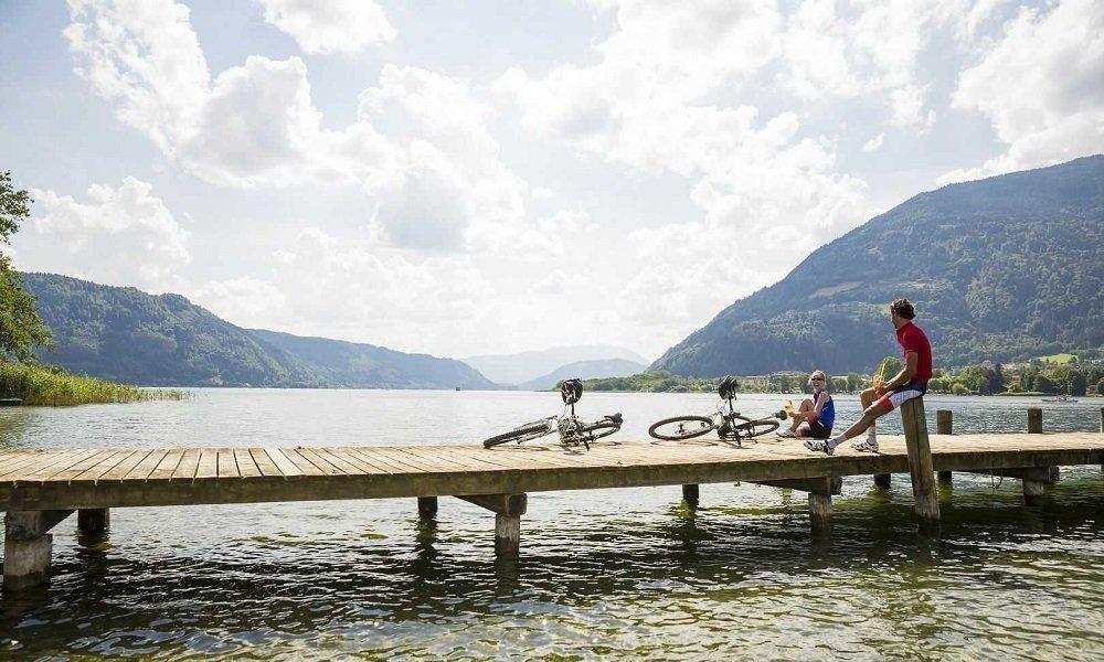 Mit dem Fahrrad rund um den Ossiacher See in Kärnten - Sommer in Pension Pilsachhof