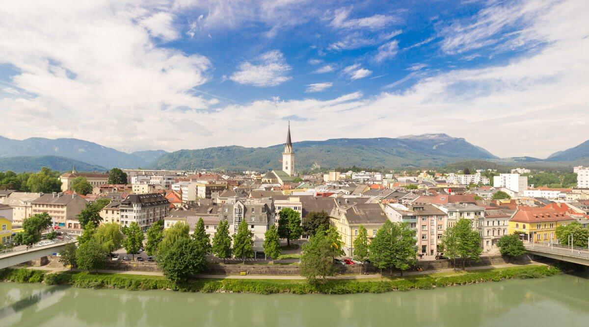 Villach an der Drau mit vielen Freizeit- & Einkaufsmöglichkeiten - schöne Ausflüge in Kärnten